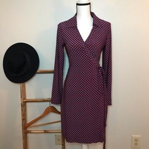 Tommy Hilfiger Patterned Wraparound Dress